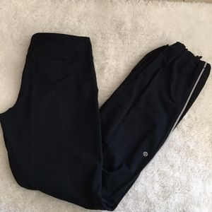 Lululemon Run Black Reflective Pants Size 8